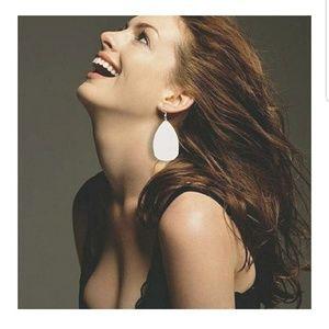 Jewelry - Lightweight Faux Leather Leaf Earring
